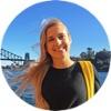 Sydney intern Abby on a boat