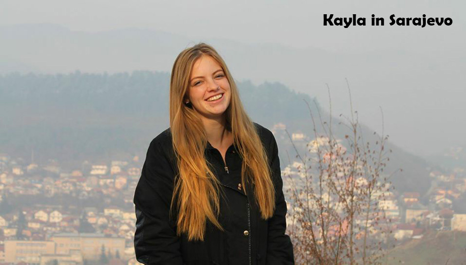 Admissions Counselor Kayla in Sarajevo