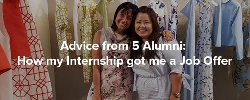 Advice from Alumni: Internship got me a job offer