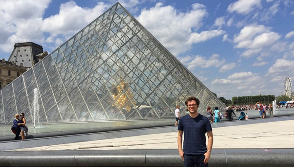 Paris Intern Alex at the Louvre