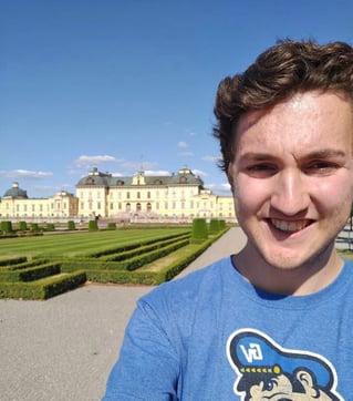 Stockholm intern Alex visiting Drottningholm
