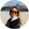 Sydney intern Allison M at the beach