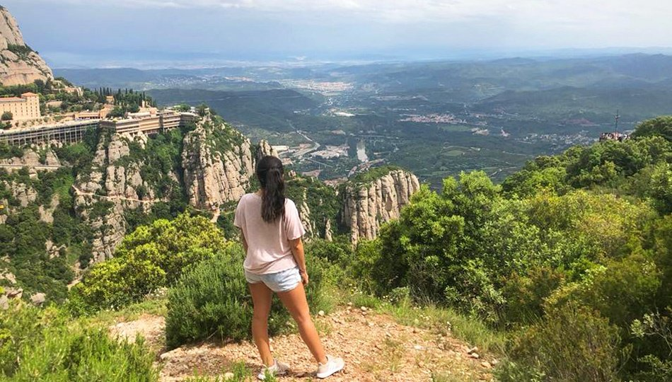 Barcelona Intern Hiking in Spain