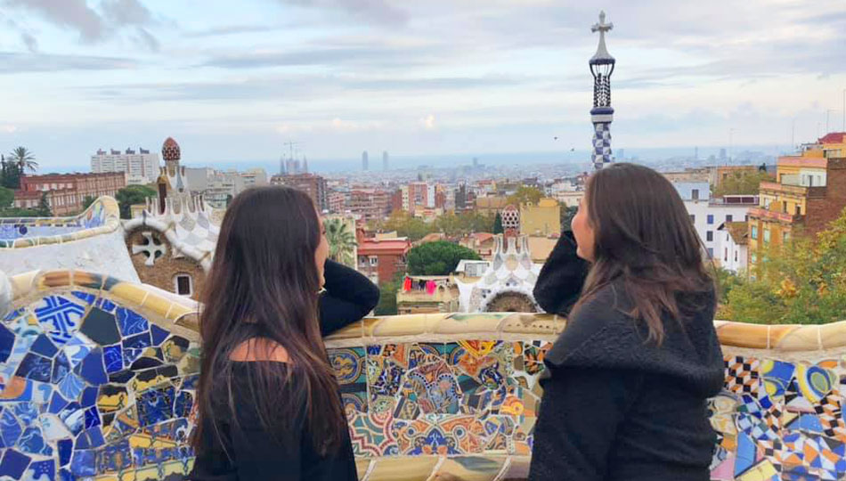 Barcelona Interns Visiting Parc Guell