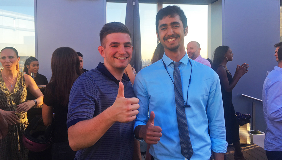 Barcelona interns at networking event