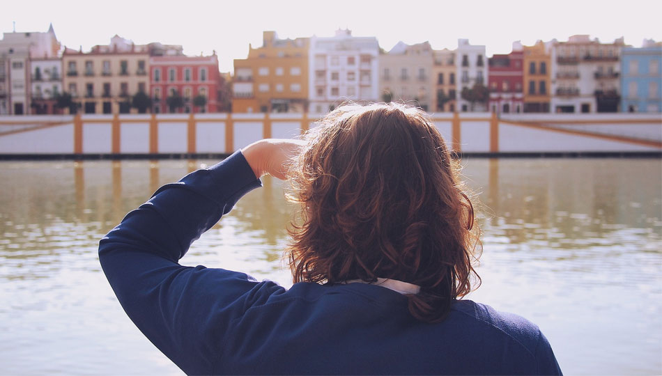 Girl looking out across the water