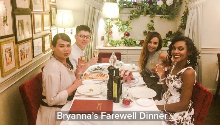 Bryanna's Farewell Dinner