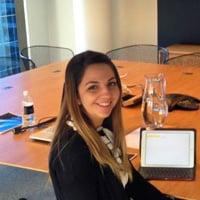 Bree at her internship in Sydney