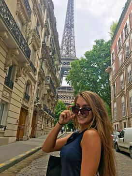 Paris intern Claire exploring the city