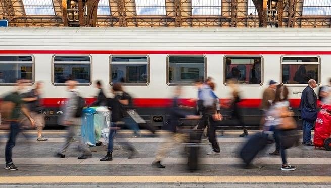 Morning commute on Milan Train