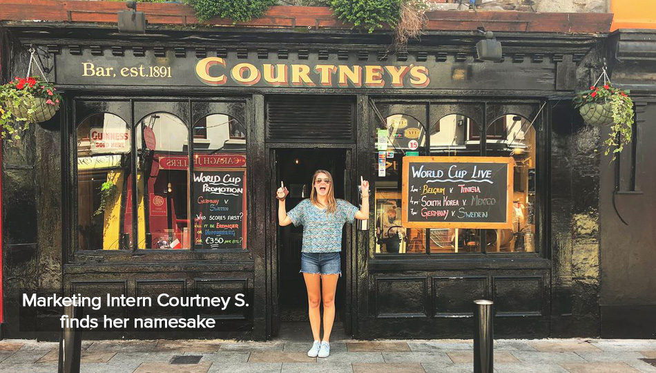 Marketing intern Exploring Dublin