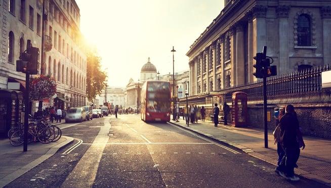 Crossing Street in London