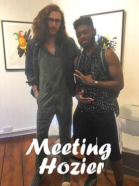 Dublin Communications intern Donterrius meeting Hozier at internship