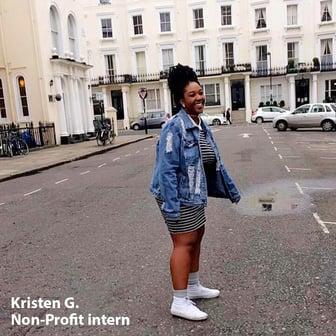 Dublin intern walking around the city