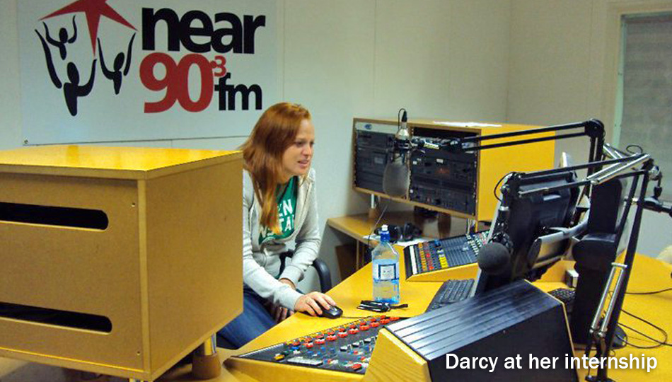 Dublin intern working at local radio station