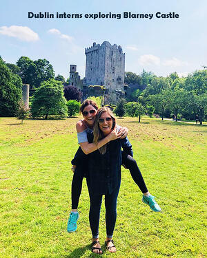 Dublin interns exploring northern Ireland