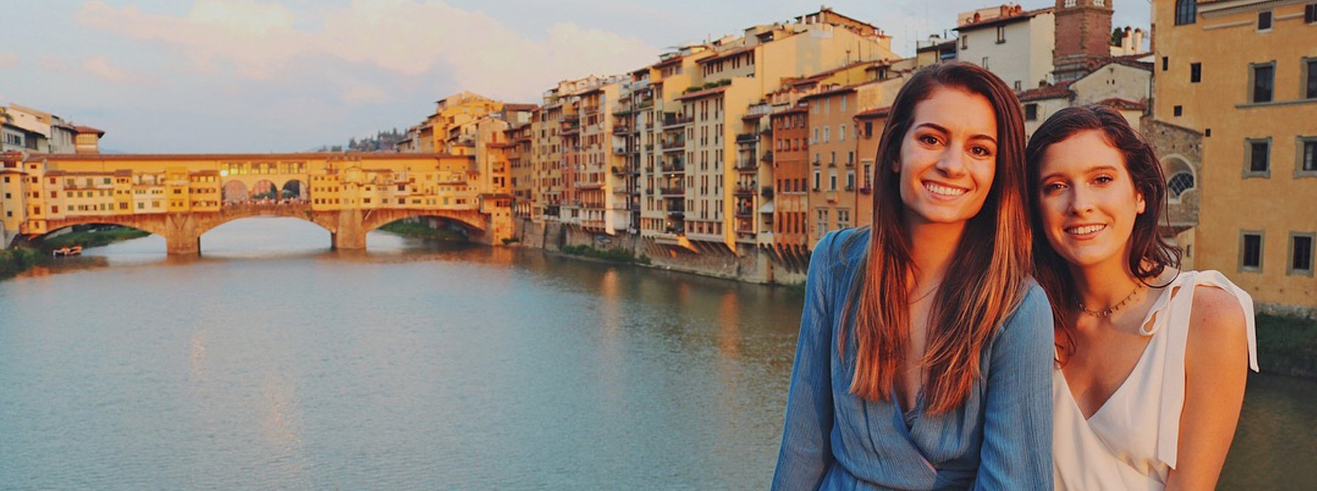 Florence Interns at the Ponte Vecchio