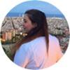 Barcelona Intern Geraldine overlooking the city