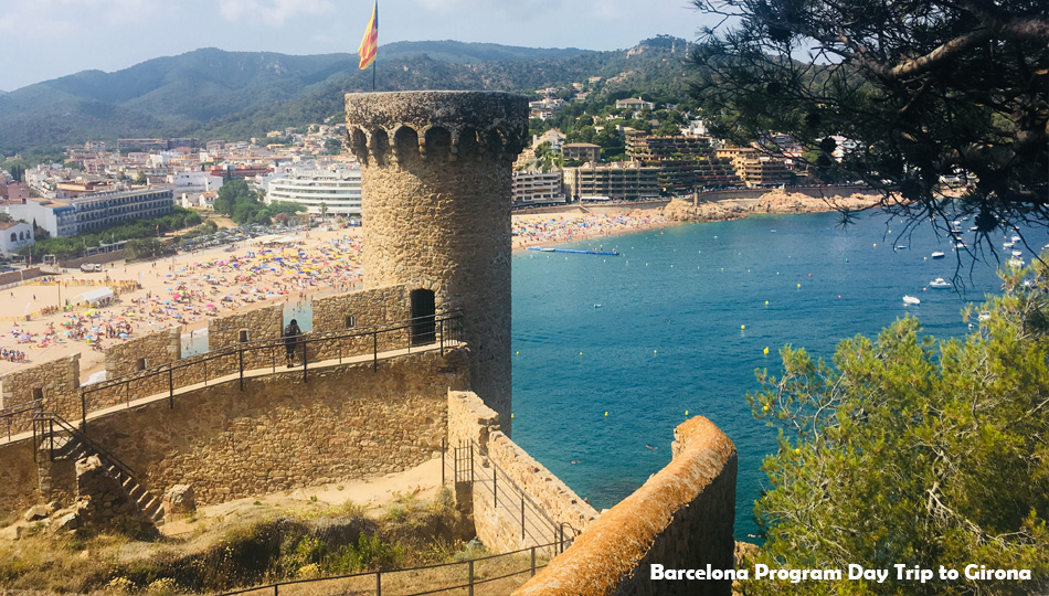 Castle in Girona Spain