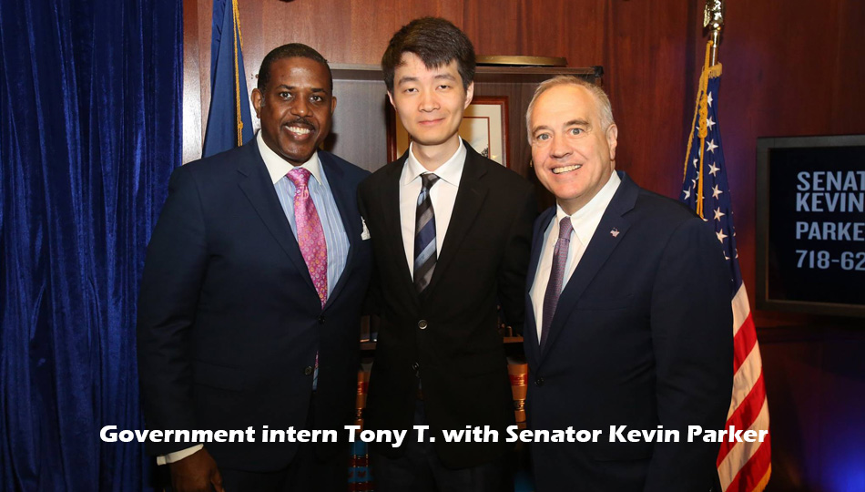 Government intern with Senator Kevin Parker
