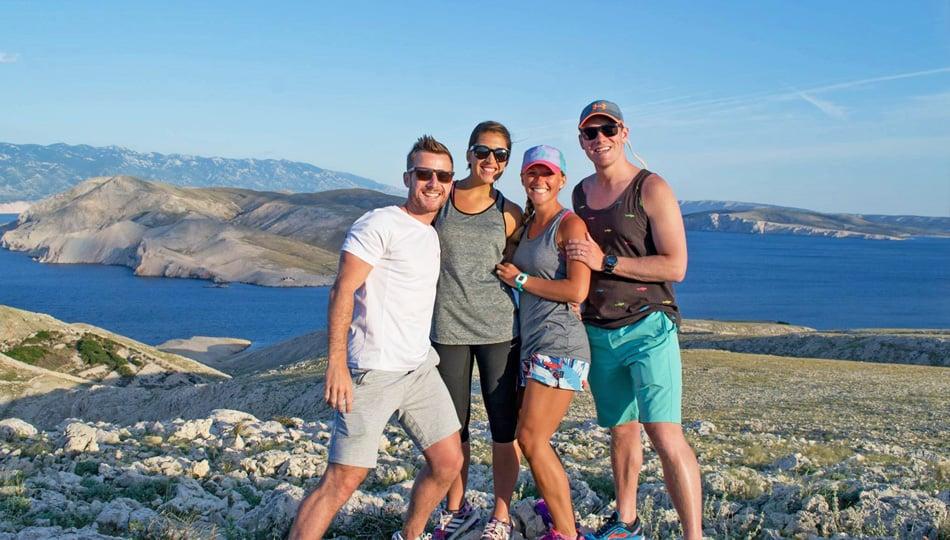 Group of travelers exploring in Baska