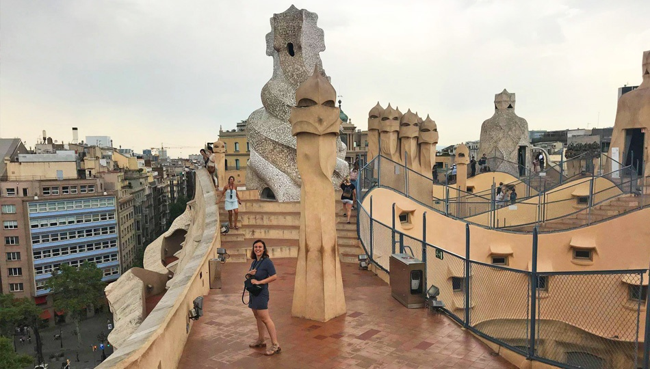 Heather at Park Guell