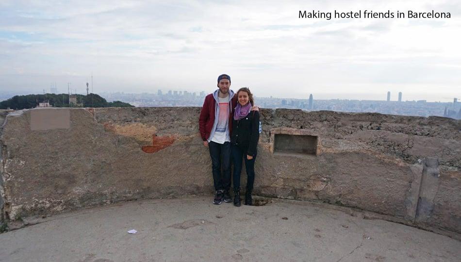 Hostel friends in Barcelona