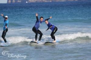 Ben surfing at Bondi Beach