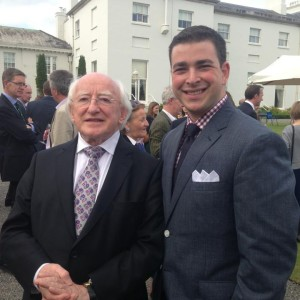 Me with the President of Ireland, Michael Higgins!