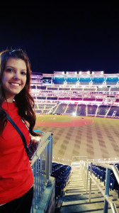 Allison at a National's baseball game