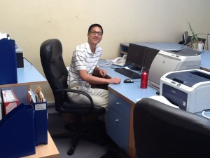 Russell at his internship with Pro Capital Ltd.