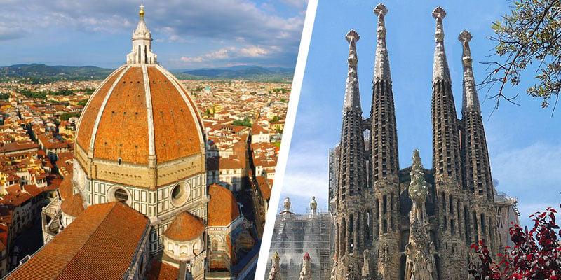 Florence and Barcelona