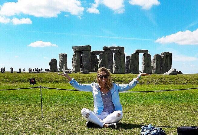 Jen in Stonehenge