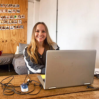 Julie Q at her internship in Barcelona