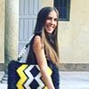 Milan intern Katherine walking around the city