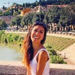 Kayla touring through the Italian countryside