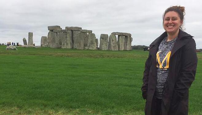 Kelly at Stonehenge