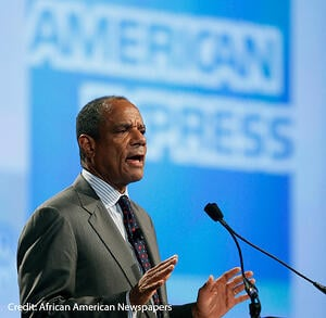 Kenneth Chenault speaking at American Express Event