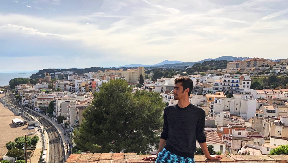 Barcelona intern Laith enjoying the skyline