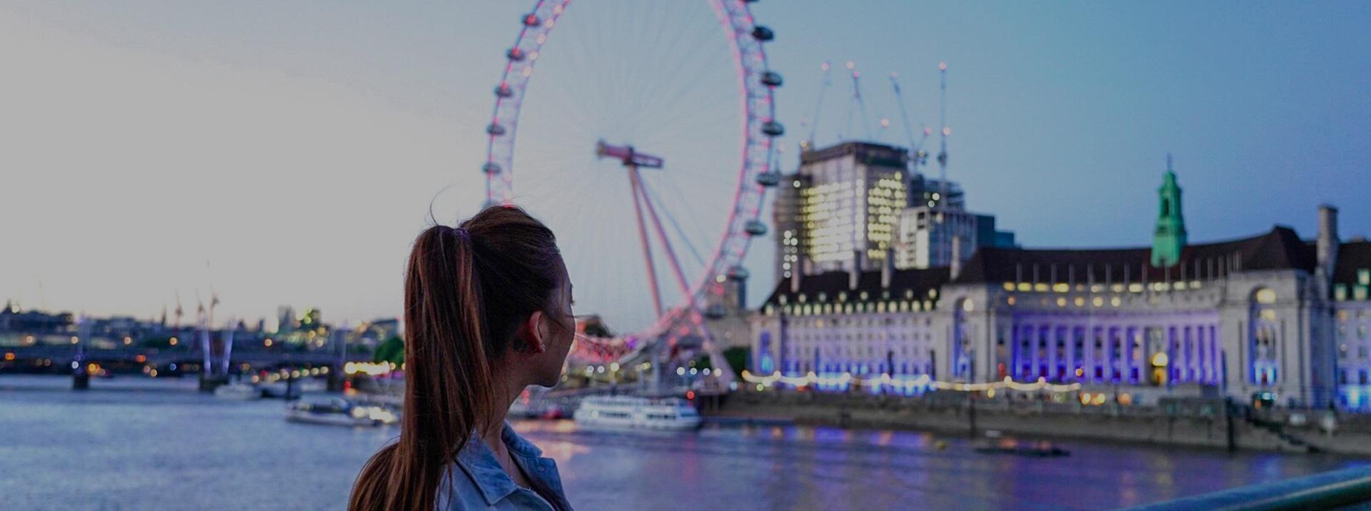 London Intern Looking at London Eye