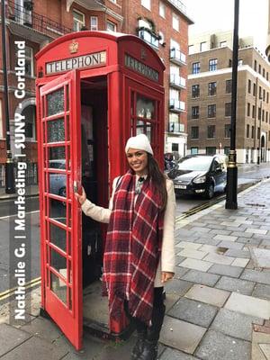 London Intern at Phone Booth