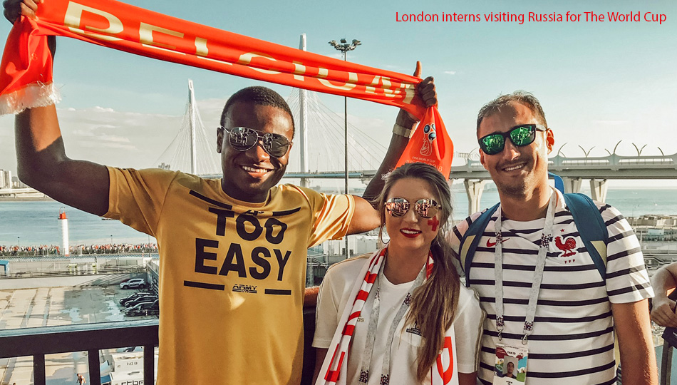London Interns Visiting Russia for The World Cup