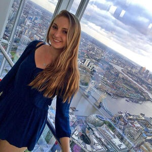 London intern at The Shard overlooking the city