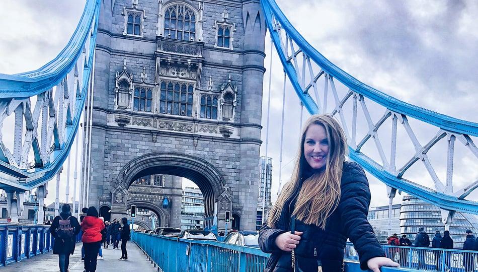 London intern at tower bridge