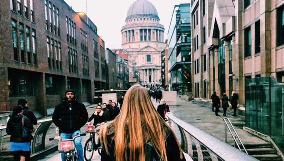 London intern exploring the city