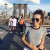 New York City intern Maggie at the Brooklyn Bridge