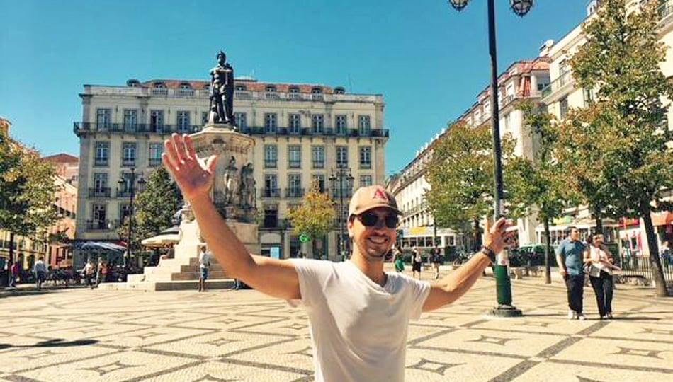 Man Traveling in Spain
