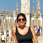 Maris during a tour around Italy