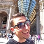 Martin enjoying the sites around Milan