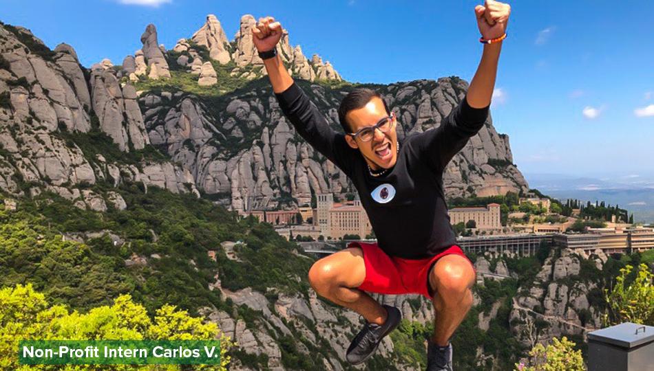 Man jumping at Montserrat